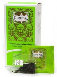 Ginger Lemon Green Kusmi Tea- jedwabna saszetka, 1 szt.