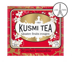 Four Red Fruits Kusmi Tea❖ Muślinowe saszetki ▸ 20 szt.